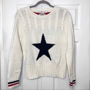 Tommy Hilfiger Crewneck Sweater w/ red stripe